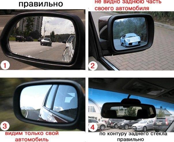 Как правильно отрегулировать зеркала в автомобиле