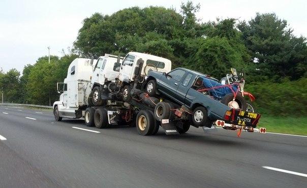 Как не надо перевозить автомобили