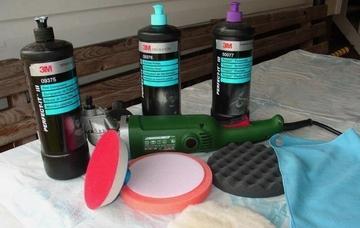Материалы и оборудование для полировки авто