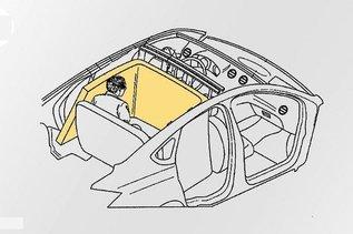 """Ford запатентовал """"стену безопасности"""" для заднего сиденья"""